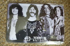 Led Zeppelin 3 Band Design Tin Metal Sign Painted Poster Comics Book Wall Art
