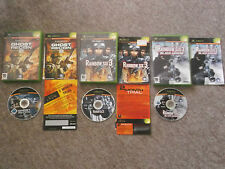 Original XBOX Games x 3~TOM CLANCY Ghost Recon, Rainbow 6~ Boxed w/Instructions