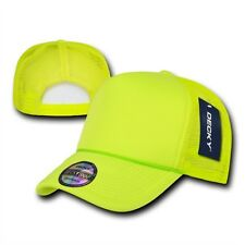 Neon Bright Yellow Classic Mesh Foam Trucker Vintage Baseball Hat Hats Cap Caps