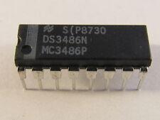2 Stück - DS3486N NSC Quad RS-422, RS-423 Line Rec. im DIP16 Gehäuse - AE12/7215