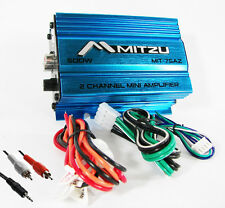 Mitzu 2CH Car Motorcycle ATV Audio Mp3 Amplifier Amp + Free 6ft RCA 3.mm Cable