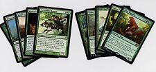 10X DIFFERENT Random GREEN Rare Cards MTG Magic the Gathering Lot Collection Set