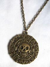 Pirati di Caraibi Azteco moneta Medaglione Ciondolo Con Teschio Costume Collana
