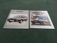 1984 1985 TOYOTA TERCEL 4WD ESTATE UK 18pg BROCHURE + LARGE COLOUR OUTER FOLDER