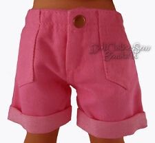 """Pink Bermuda Cuffed Shorts made for 18"""" American Girl Doll Clothes"""