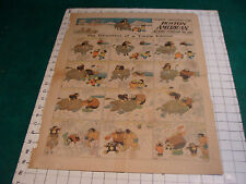 Orig. Comics: 2 pages 2-24-1907 THE EDUCATION OF A YOUNG ESKIMO, BUSTER BROWN