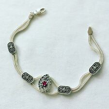 Turkish Handmade Jewelry Foxtail Bracelet 925 Sterling Silver Turkey Byzantine