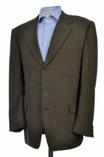 CANALI Black Gold Check Wool Blazer Sport Coat Jacket - 42 R