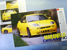 AUTO998-RITAGLIO/CLIPPING/NEWS-1998-FIAT COUPE' CADAMURO TURBO 16V - 3 fogli