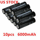 10pcs 18650 6000mAh 3.7V Rechargeable Li-ion Battery For Flashlight NY