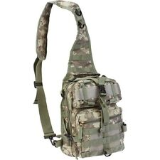 "11"" Digital Camo Sling Backpack Military Tactical Bag Hiking Camouflage Day Pack"