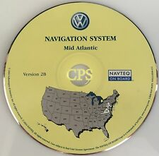 2004 2005 VOLKSWAGEN TOUAREG VW NAVIGATION DVD UPDATE 2B MID ATLANTIC MAP