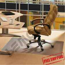 "Office Chair Mat Desk 46"" x 60"" Plastic for LOW PILE CARPET Clear Durable Roll"