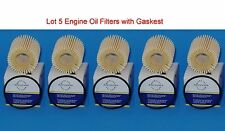 Lot 5 Oil Filter 04152-YZZ0A1 With Gasket Fits: Lexus Pontiac, Scion & Toyota