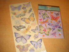 K & co  Embossed and glittered Butterflies   for cards etc