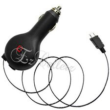 For LG X POWER CRICKET SMART IC CHIP POWER RETRACTABLE CORD CAR VEHICLE CHARGER