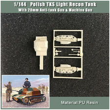 【1/144 TANK】Polish TKS Light Recon Tank  With 20mm Gun & Machine Gun(RESIN KIT)