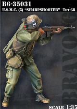"BRAVO-6 35031 U.S.M.C (5) ""SHARPSHOOTER"" Tet '68 1/35 RESIN FIG."