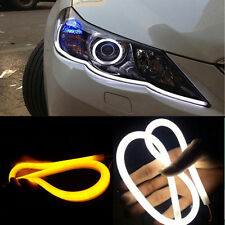 2pcs 30cm LED Car Motors Truck Flexible Strip Light Tube Running Waterproof 12V