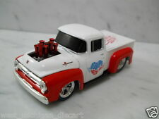 1956 Ford F-100 Moon Pie I love you to the Moon and Back White-Red  1/64 Scale