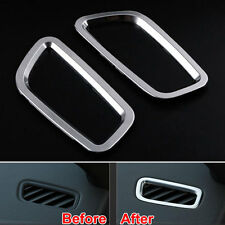 2Pcs ABS Interior Air Vent Outlet Air Condition Cover Trim For Macan 2014-15