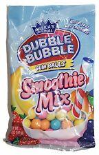 DUBBLE BUBBLE 5oz Bag GUM BALLS Bubble/Chewing Gum SMOOTHIE MIX New! Exp. 2/19+