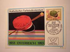50 Jahre CV MKV - 1983 Österreich - Ersttagskarte Briefmarke / Studentika