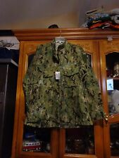 AOR2 NWU WOODLAND SHIRT NWU Navy Seal  SIZE MEDIUM SHORT  W/ NAVY ACE NEW WT