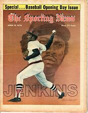 The Sporting News, 4/10/76, Baseball, magazine, Fergie Jenkins, Boston Red Sox