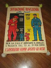MANIFESTO,1957,COMITATO CIVICO,C.G.I.L,LAVORATORI ALLA FIAT,C.I.S.L. SINDACATO