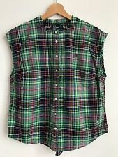 Fred Perry Women's Checked Sleeveless Top Shirt - Size 14