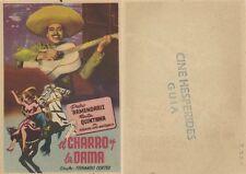 Programa de CINE. Título película: EL CHARRO Y LA DAMA.