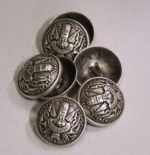 8pc 27mm Soviet Cold war Inspired Pewter Metal Military Blazer Button 2119