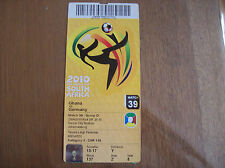 TICKET WORLD CUP 2010 GERMANY - GHANA 23/6/2010