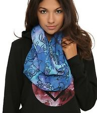 Disney Lilo & Stitch Tie dye Print Sheer Infinity Scarf Gift New With Tags!