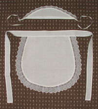 ADULTS SISSY MAID APRON,LACE TRIMMED WAITRESS PINNY & HEADBAND HAT