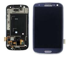 VETRO Display TOUCHSCREEN LCD FRAME SAMSUNG Galaxy S3 i9300, BLU ORIGINALE