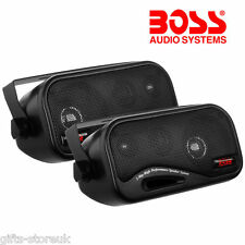 BOSS AUDIO AVA6200 3-WAY 80W BOX ENCLOSED CAR / CARAVAN SHELF SPEAKERS - NEW