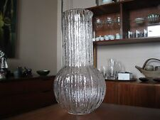 Vintage Timo Sarpaneva for Iittala of Finland Large Vertica Ice Glass Vase Rare