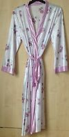 LADIES SHINY SATIN FEEL DRESSING GOWN/ROBE UK SIZES 8/10 -22