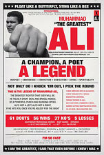 MUHAMMAD ALI VINTAGE QUOTES 24x36 poster SONNY LISTON BOXING CHAMP CASSIUS CLAY!