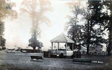 Mansfield the Park Bandstand sepia RP old postcard used 1904