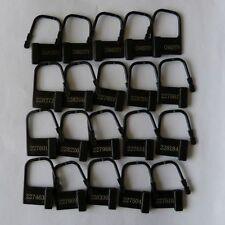 20 plastic one time use chastity locks (CH-41-BLA) , FREE UK DELIVERY
