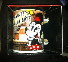 Croissant de Triomphe Modern MICKEY & MINNIE MOUSE 11 oz. Disney Coffee Mug, NEW