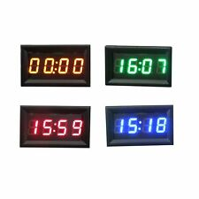 4 Color Car Motorcycle Accessory 12V/24V Dashboard LED Display Digital Clock NEW