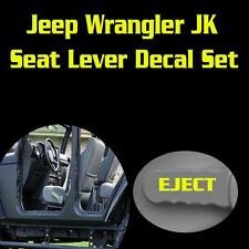 Jeep Wrangler JK Seat Lever Eject Vinyl Decal Set Sticker Funny