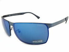 Police  CUBE 6 Sunglasses Satin Antique Blue / Blue Mirror S8959 8V7B