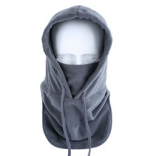 New Gray Thermal Balaclava Hood Outdoor Ski Winter Windproof Face Mask Hat US
