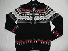 MENS black CARDIGAN SWEATER = CHAPS ralph lauren = SM, Med, Large, XL or XXL