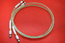 80% silver Oil-injected Silver Interconnects Home Audio CD Player RCA Cable 3FT